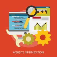 Ilustração conceitual de otimização de site Design vetor