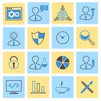 Conjunto de ícones plana de SEO