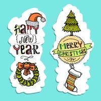 Banners verticais de Natal vetor