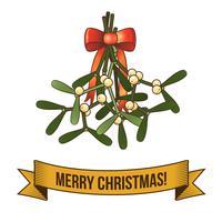Ícone de ramo sagrado de Natal vetor
