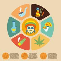 Conjunto de infográfico de drogas vetor