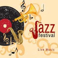 Cartaz de concerto de jazz vetor