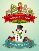 Conjunto de banner de Natal vetor