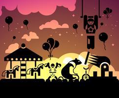 Fundo de noite de circo vetor