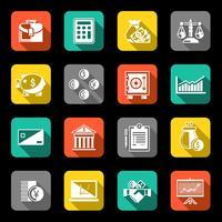 Conjunto de ícones de finanças plana