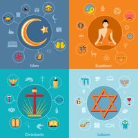 Conjunto de religiões plana