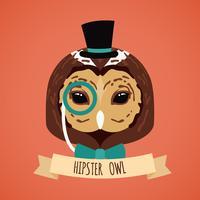 Retrato animal hipster vetor
