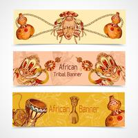 Esboço de África colorido banners horizontais