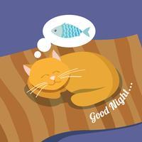 Fundo de gato dormindo vetor