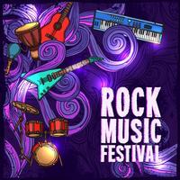 Cartaz do festival de música vetor