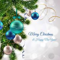 Cartão postal de Natal feliz vetor