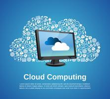 Conceito de computação em nuvem vetor