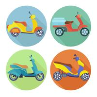 Scooter icon set plana
