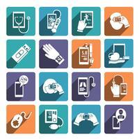Conjunto de ícones de saúde digital