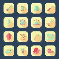 Conjunto de ícones de equipamento de costura