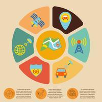Infografia de navegação móvel vetor
