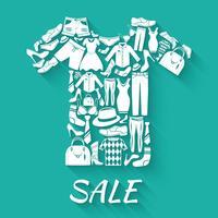 Conceito de venda de roupas vetor