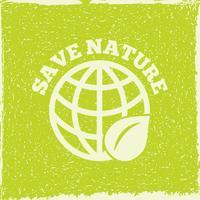 Cartaz de energia ecológica