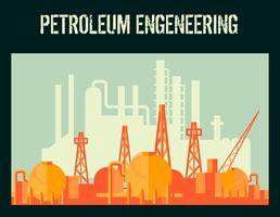 Cartaz da indústria de petróleo
