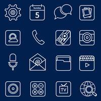 Contorno de ícones de aplicativos móveis