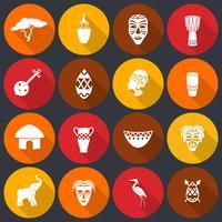 Conjunto de ícones de África planas