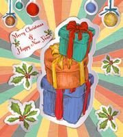 Fundo de presentes de Natal vetor