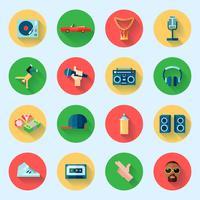 Conjunto de ícones de música rap