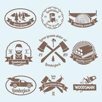 Rótulo de lenhador de lenhador