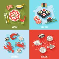 Conjunto de frutos do mar