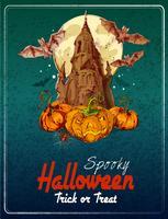 Fundo colorido de Halloween