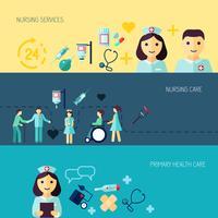Conjunto de banner de ícone de enfermeira