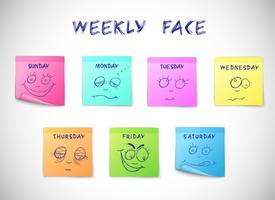 Adesivos de calendário semanais