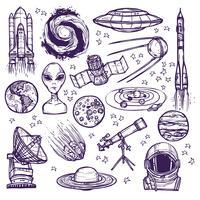 Conjunto de desenho de espaço