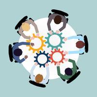 Conceito de cooperação empresarial vetor