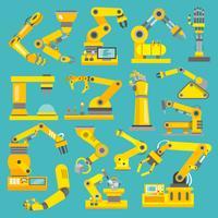 Braço robótico plano vetor