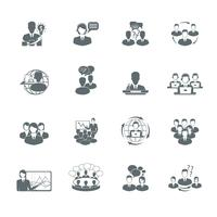 Conjunto de ícones de reunião