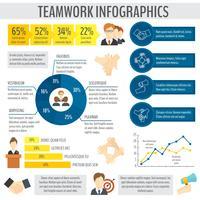 Infográfico de negócios de trabalho em equipe vetor