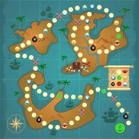 Jogo de piratas ilha do tesouro vetor