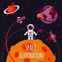 Espaço plana ilustração