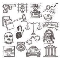 Esboço de ícone de lei