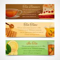 Conjunto de bandeiras de chá