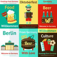 Conjunto de cartaz retrô de viagens Alemanha vetor