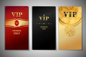 Conjunto de cartões vip