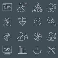 Conjunto de ícones de SEO delinear