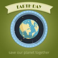 Cartaz do dia da terra vetor