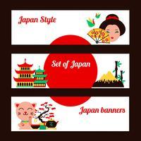 Conjunto de banner do Japão vetor