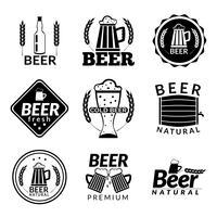 Emblemas de cerveja preta