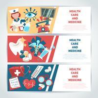 Banners horizontais médicas vetor