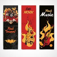 Conjunto de bandeiras de música rock vetor