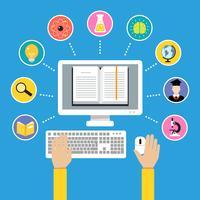Conceito de educação on-line vetor